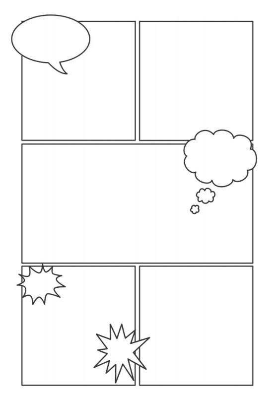 Как сделать комиксы с картинками 74