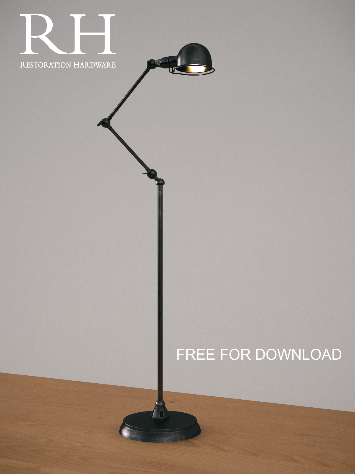 ATELIER TASK FLOOR LAMP BRONZE_free