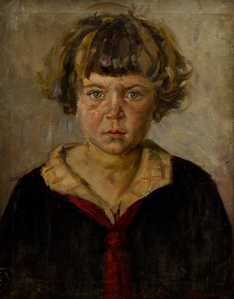 """Степан Агаджанян, """"Растрепанная девочка"""" (Седа в красном галстуке) 1928"""