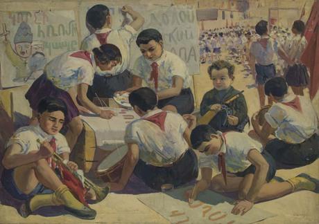 Седрак Аракелян «Пионеры готовятся к параду» 1930