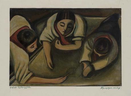 "Геворг Григорян ""Стенгазета"" 1930"