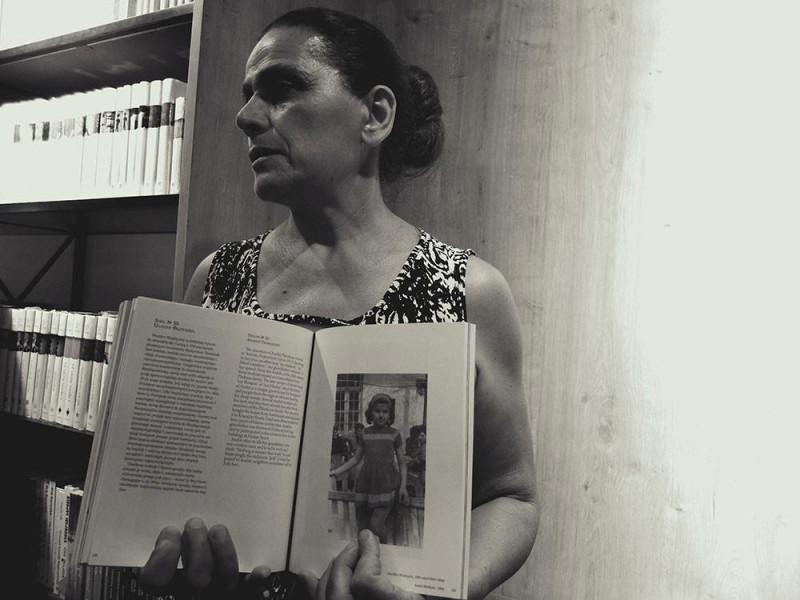 Жительница Фирдуса Анаит Пхрикян на презентации книги