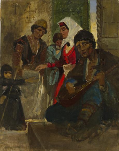 """Амаяк Арцатпанян, """"У храма"""" 1909"""
