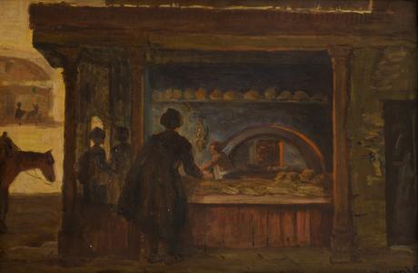 """Амаяк Акопян """"У пекаря"""" 1900"""