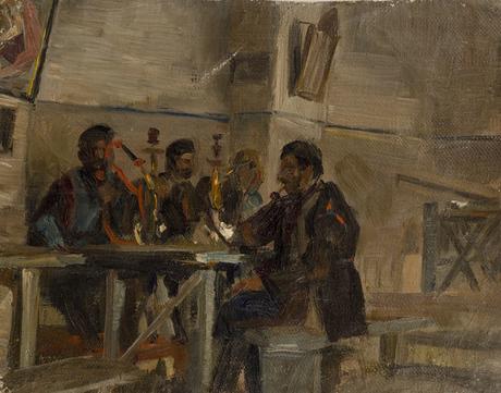 "Амаяк Акопян ""Чайхана в Тбилиси"" 1890"