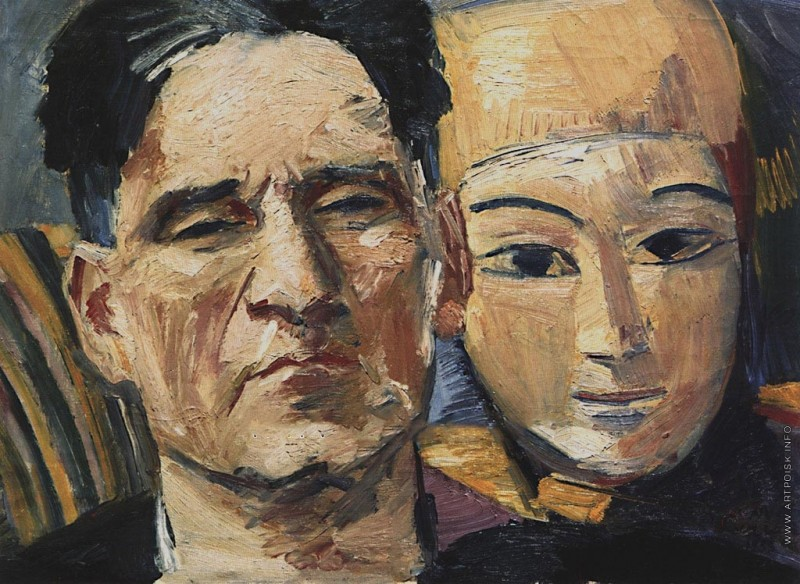 Автопортрет с маской, 1933, Музея Востока, Москва