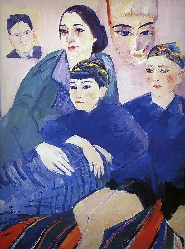 """""""Моя семья"""" 1929, Третьяковская галерея, Москва"""