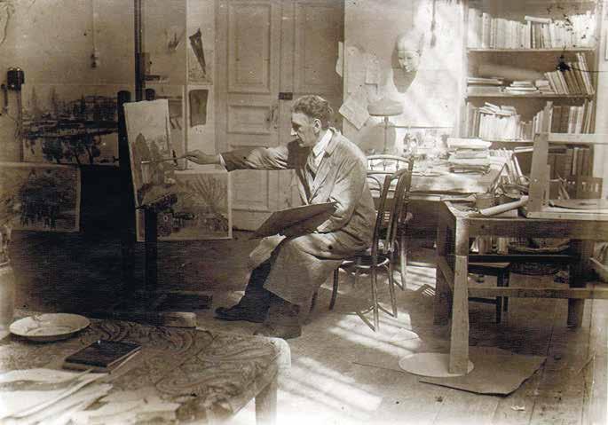 Художник в своей мастерской в Ереване в 1936