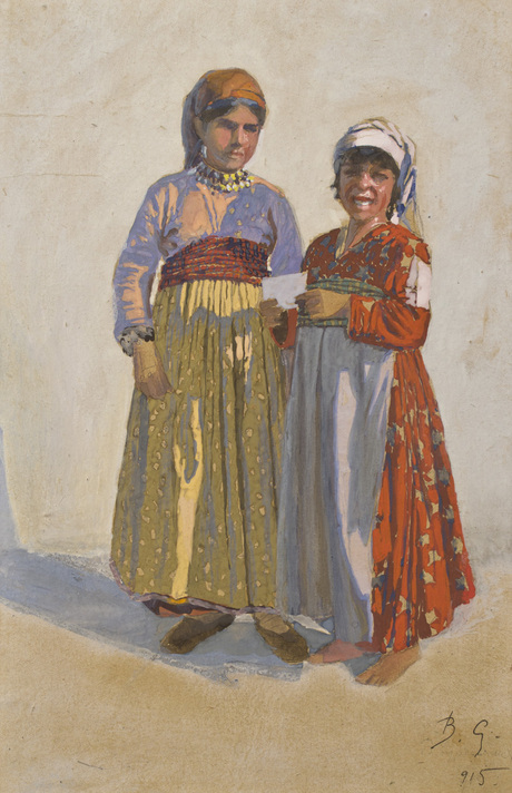 Вардгес Суренянц рисунок сделан в лагере беженцев в Эчмиадзине 1915
