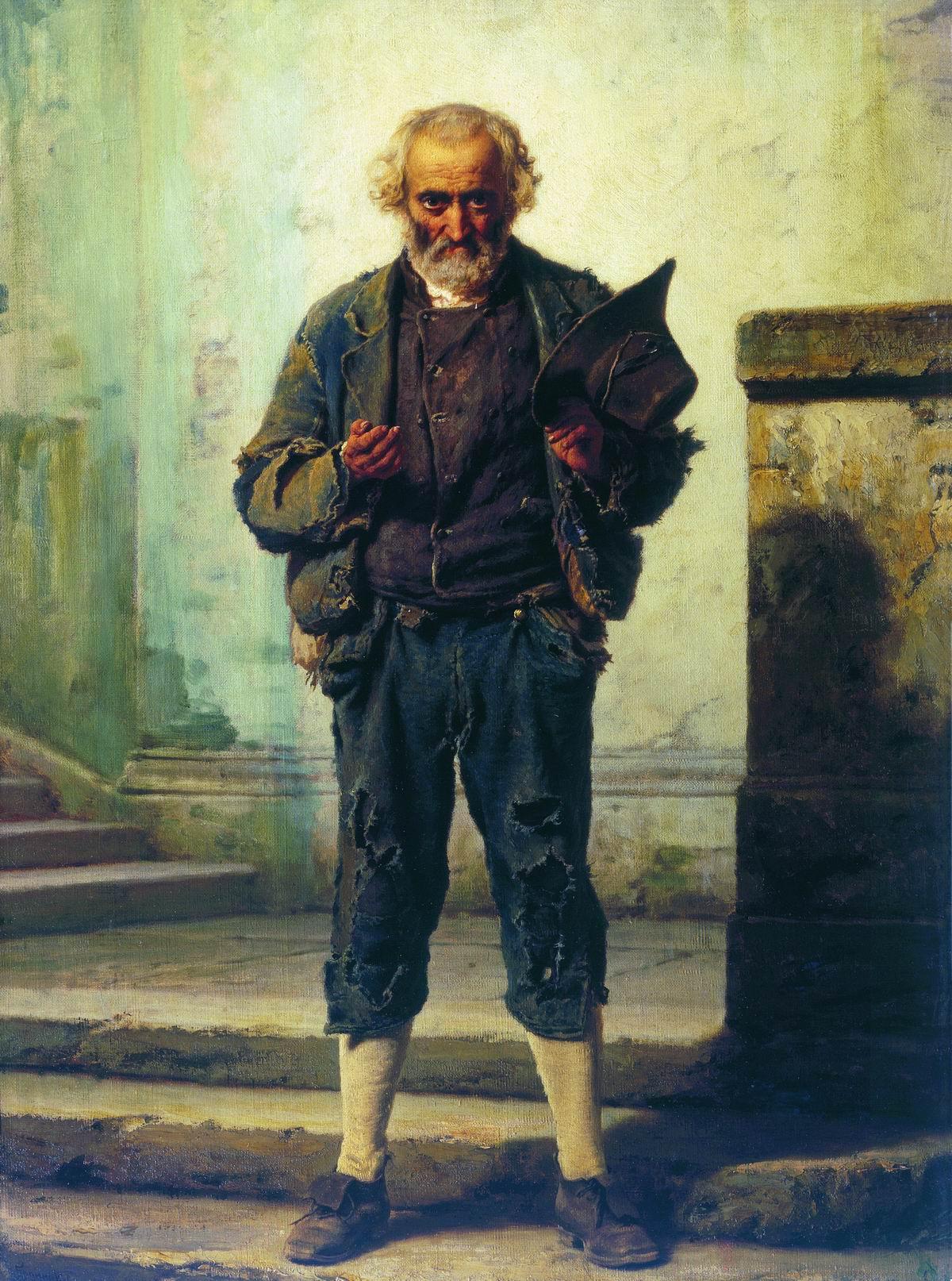 """""""Старик-нищий"""", 1869, Федор Бронников"""