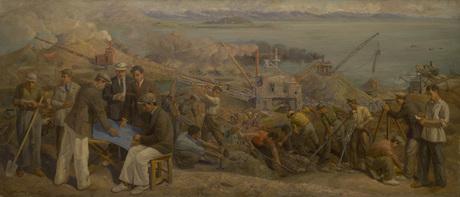 """""""Севан. Зангстрой"""" 1937 Габриэл Гюрджян"""