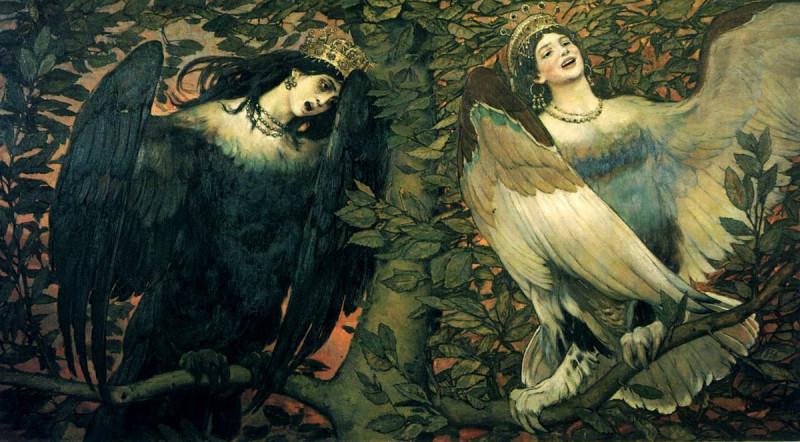 """Виктор Васнецов, """"Сирин и Алконос"""" 1896"""