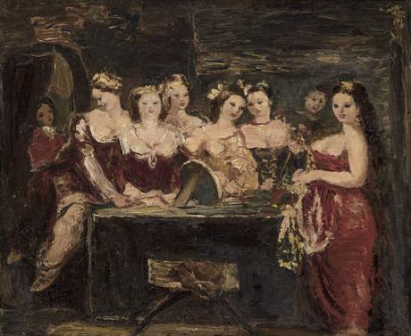 Группа женщин у зеркала 1941, Национальная галерея Армении