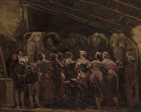 Наблюдение за слонами 1936, Национальная галерея Армении