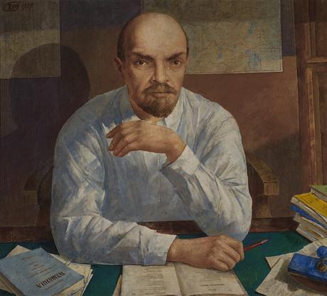 """""""Портрет Ленина"""", 1934 К.С. Петров-Водкин, Национальная галерея Армении"""