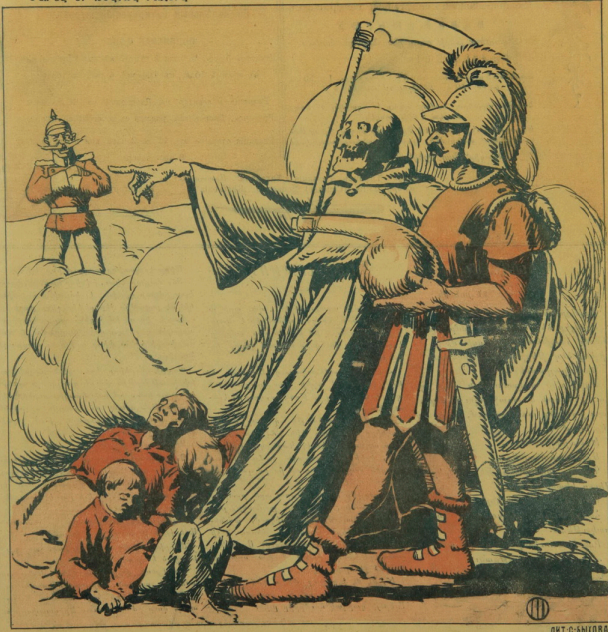 "Рисунок с обложки журнала ""Хатабала"" 1915 №25"