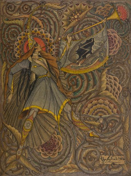 """Акп Коджоян, """"Армянский Геральд"""", 1924, Национальная галерея Армении"""