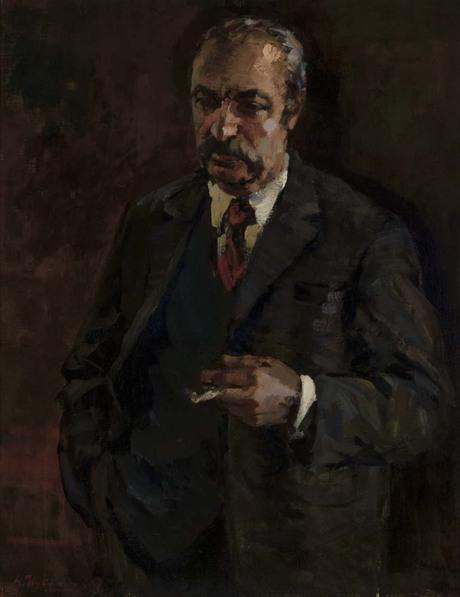 Грант Степанян, портрет писателя С. Ханзадяна 1970