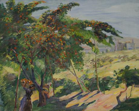 В саду, под персиками, 1938, Национальная галерея Армении