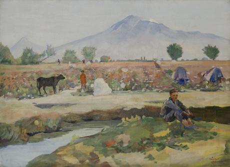 Сбор хлопка в Араратской долине, 1949, Национальная галерея Армении