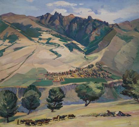 Колхоз села Кариндж у Туманяновских горах, 1952, Национальная галерея Армении