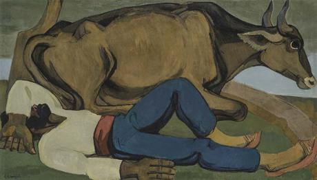 """Владимир Айвазян """"Отдых пахаря"""" 1971 Национальная галерея Армении"""