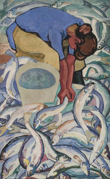 """Владимир Айвазян """"На рыбном заводе"""" 1968 Национальная галерея Армении"""