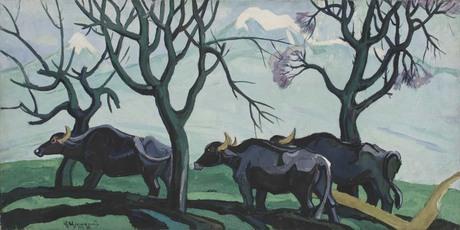 """Владимир Айвазян """"Весна в садах"""" 1967 Национальная галерея Армении"""