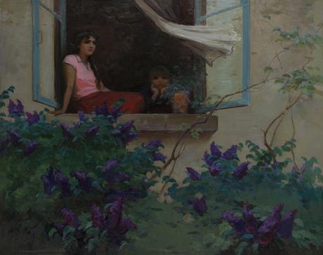 "Меружан Арутюнян ""Вечер. На балконе""  1957"