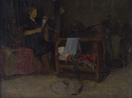 """Григор Агасян """"Женщина с прялкой"""" 1947"""