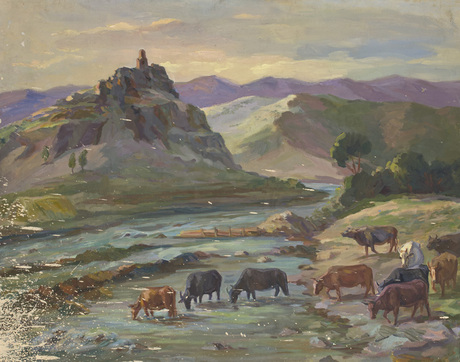 "Эдуард Саргсян ""Летний вечер в Бжни"" 1948"