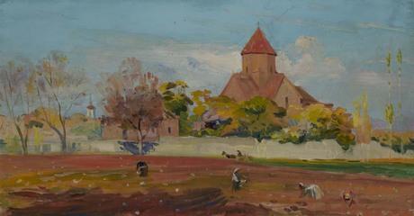 Мкртич Тиратурян (1918-1982) Осень в Эчмиадзине 1961