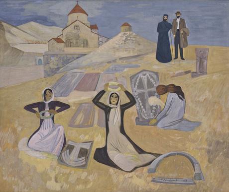 "Генри Сиравян, ""Веночки. Комитас и Туманян"" 1969, Национальная галерея Армении"