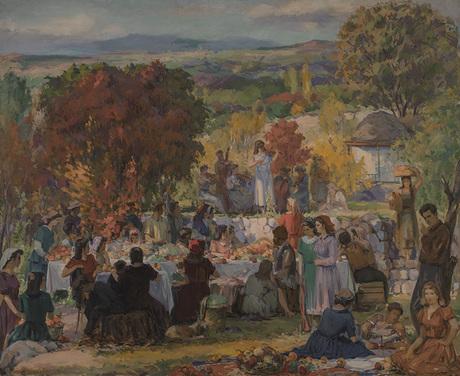 "Ваграм Агабабян ""Праздник урожая"" 1945, Национальная галерея Армении"
