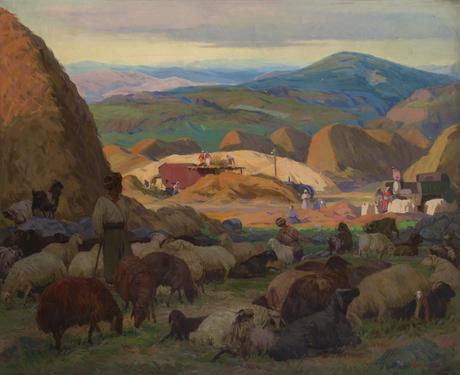 "Ваграм Агабабян  ""В колхозе ""Авангард"" 1950 Национальная галерея Армении"