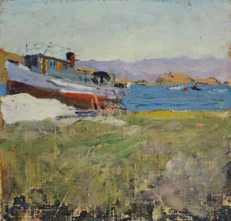 "Егишэ Тадевосян (1870 - 1936) — ""Пристань на Севане"" 1934"