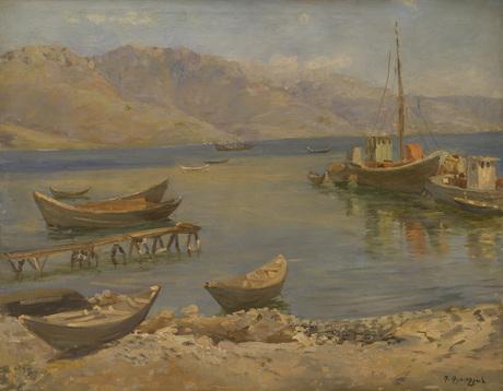 """Габриэл Гюрджян (1892 - 1987) — """"Пристань на Севане"""""""
