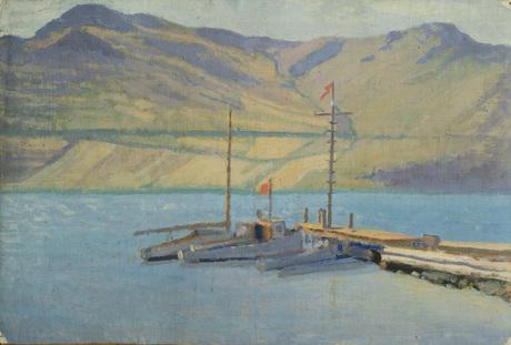 "Фанос Терлемезян (1865 - 1941) ""Пристань на острове"""