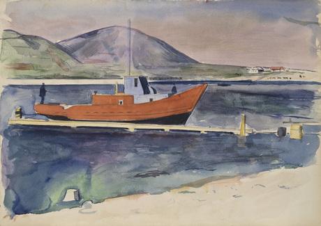 """Петрос Контураджян (1905 - 1956) """"Севан. Красный кораблик"""""""