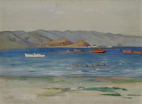 """Мартирос Сарьян (1880 - 1972) """"Севан на закате"""" 1949"""