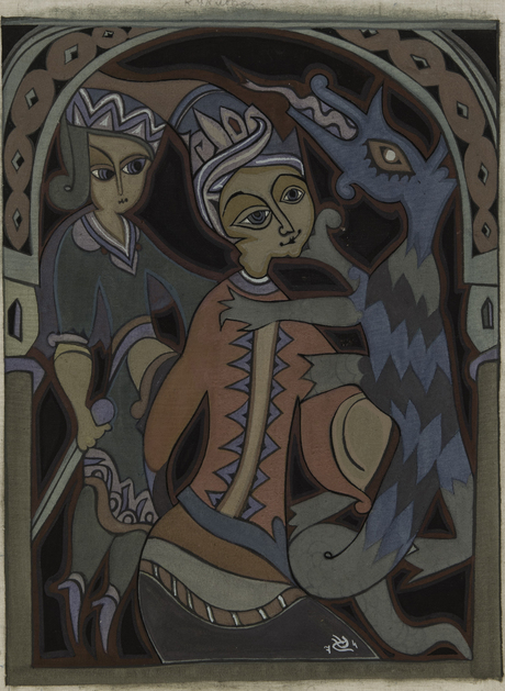 """""""Кукловоды"""" 1974 """"Влюбленные""""Национальная галерея Армении"""