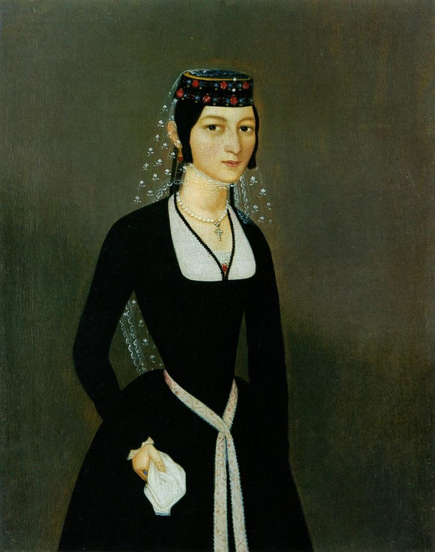 "Акоп Овнатанян, ""Портрет Натальи Теумян"" 1830-1840, Национальная галерея Армении"