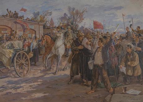 Ара Бекарян, «Въезд в Ереван Красной Армии в 1920 году» 1949 НацГалАрм