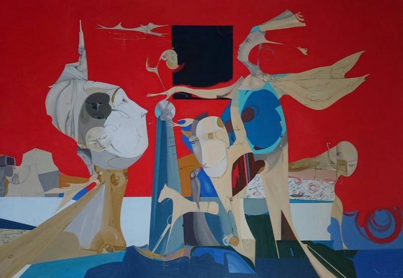 """""""Разговор"""" ,90x130 cm.2015"""