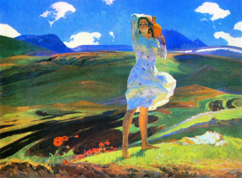 """Ованнес Зардарян, """"Весна"""" 1956, Третьяковская галерея"""