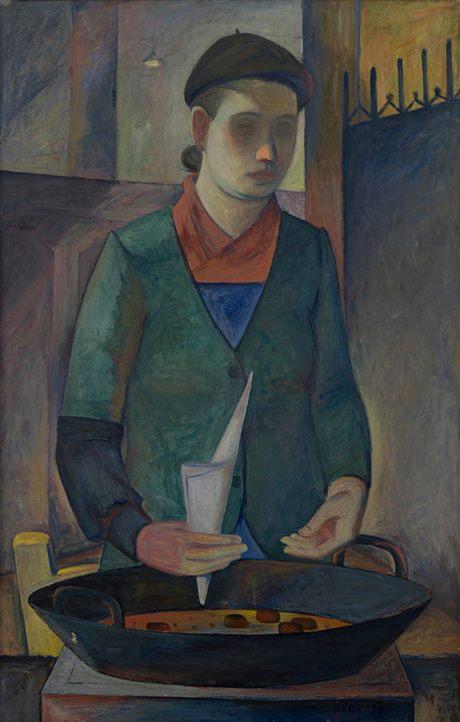 """Петрос Контурджеан, """"Продавщица каштанов"""", 1936, Национальная галерея Армении"""