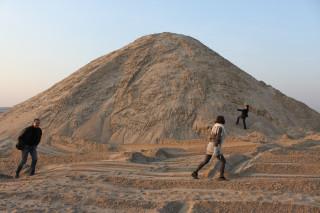 Гора песка с которой мы прыгнем