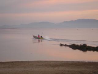 Закат на Ко Пангане с видом на Самуи
