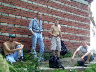 Последний раз в Новоуральске я был пять лет назад. Это мы на станции Рудянка со знакомыми парнями
