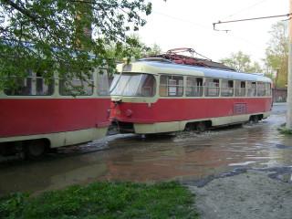 А это екатеринбургский водный трамвайчик